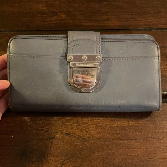Michael Kors Blue Leather Wallet